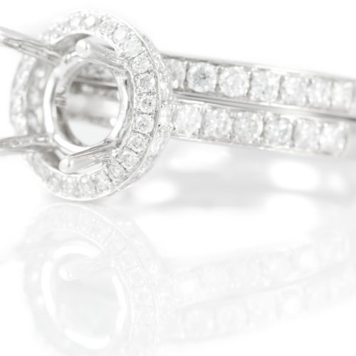 , Cartier Pave Diamond Ring 1.50 CTW