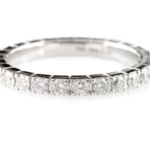 , 0.33CTTW Diamond Eternity Bands 18K White Gold