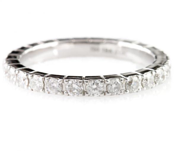 , 1.09 Carat Round Diamond Eternity Band