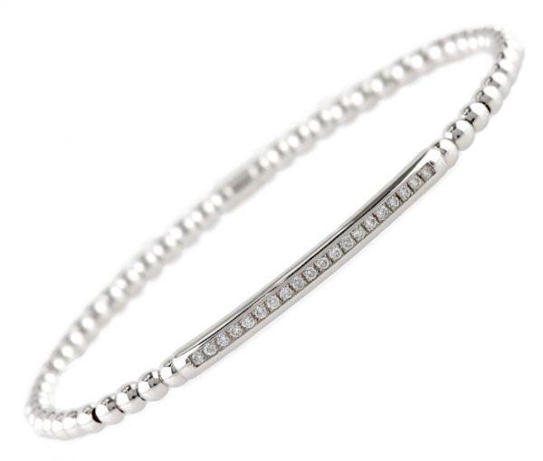 , Italian Diamond Bar Stretch Bracelet