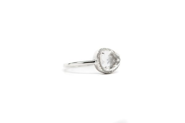 , White Topaz 14KT White Gold Ring