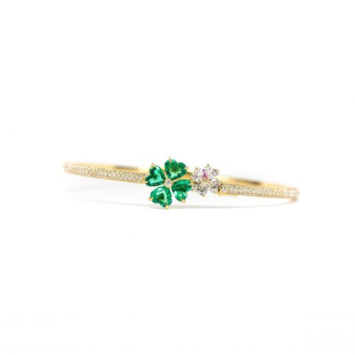 , Chopard Signed Estate Diamond & Emerald Bracelet