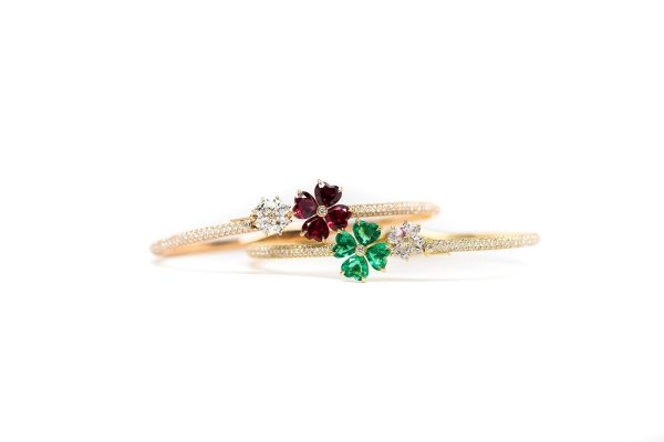 , Chopard Signed Estate Diamond & Emerald Bracelet
