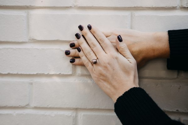 , Rose Gold Pearl Ring 10-11mm 14KT Rose Gold