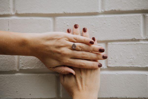 , Rose Cut Purple Sapphire Ring 18KT Yellow Gold