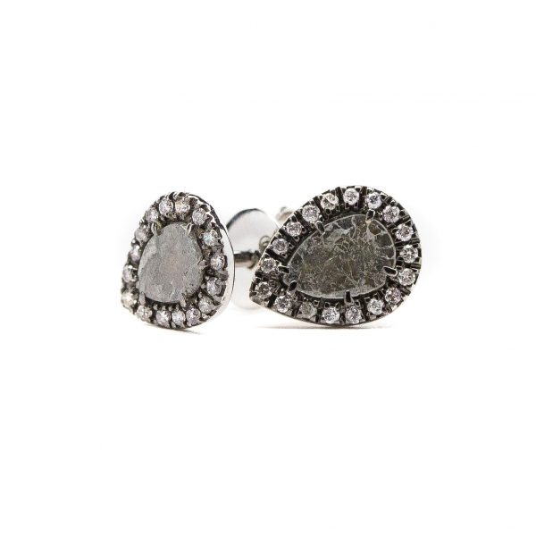 , Gray Slice Diamond Studs