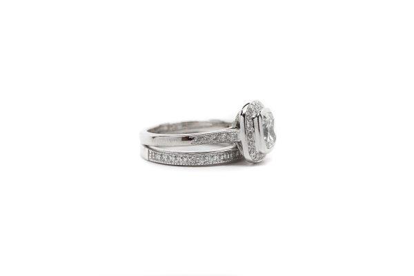 , 1.11 CT Engagement Ring Set