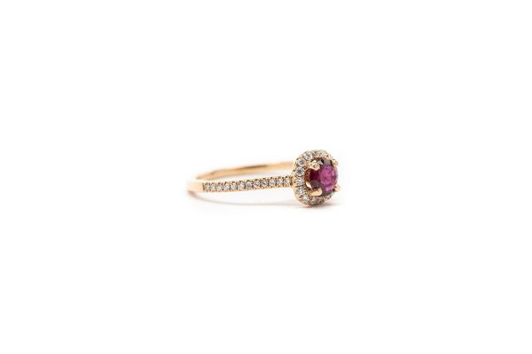 , 0.24 Ruby Ring Rose Gold
