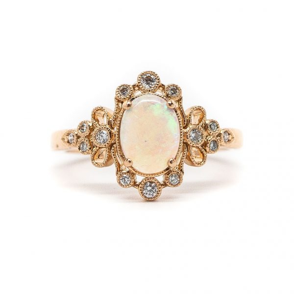 , 0.14 Opal Fashion Ring