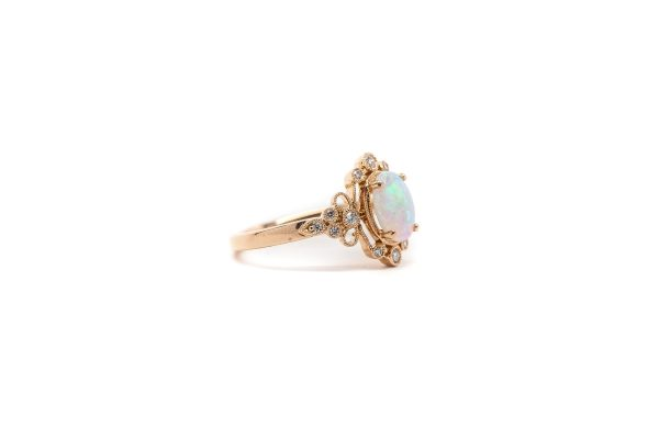 , 0.14 Opal Fashion Ring