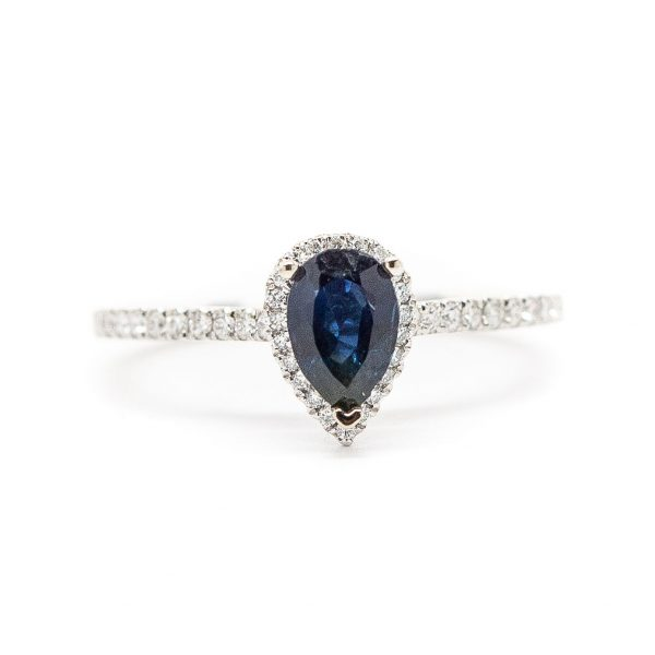 , 0.74 CT Sapphire Ring Rose Gold