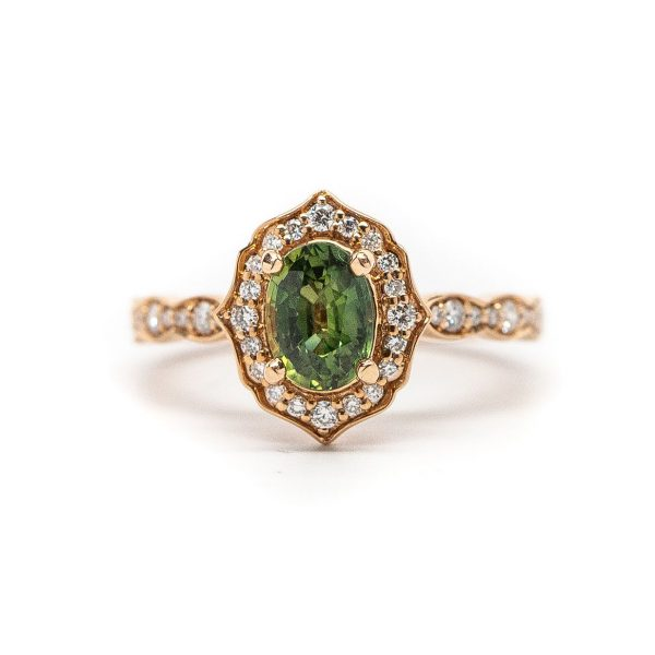 , Green Sapphire Ring