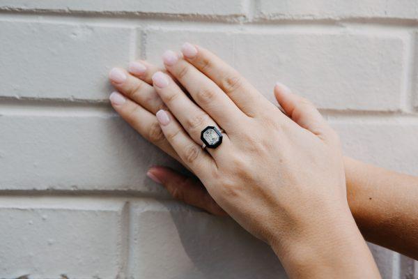 , Doves Baguette Diamond Ring
