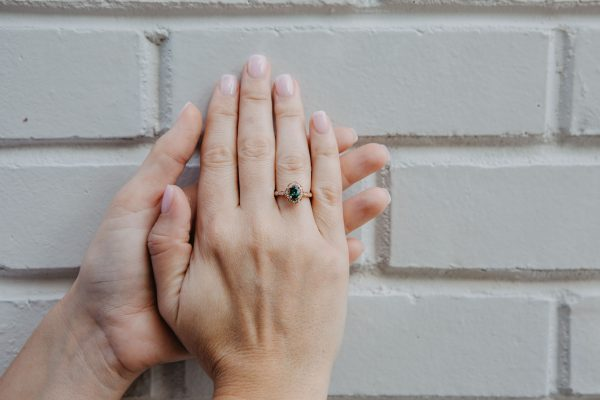 , Green Sapphire Ring