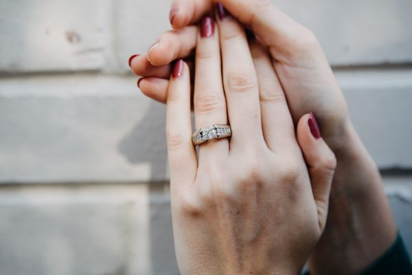 , Princess Cut Engagement Ring