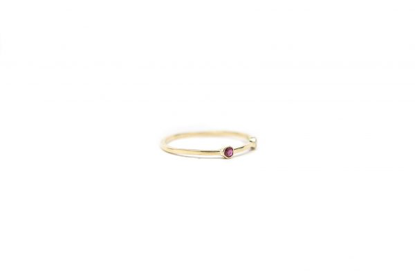, Diamond and Ruby Stacker Ring