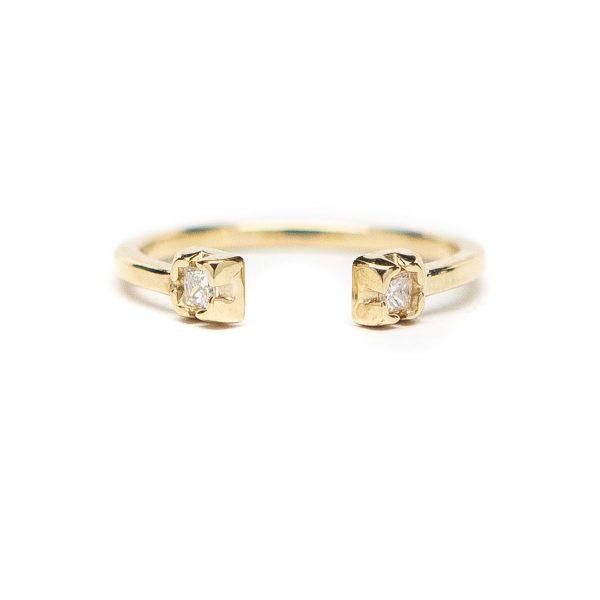 , Princess Diamond Stacker 14 KT Yellow Gold