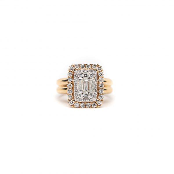 , 18KYG Yellow Gold Diamond Fashion Ring