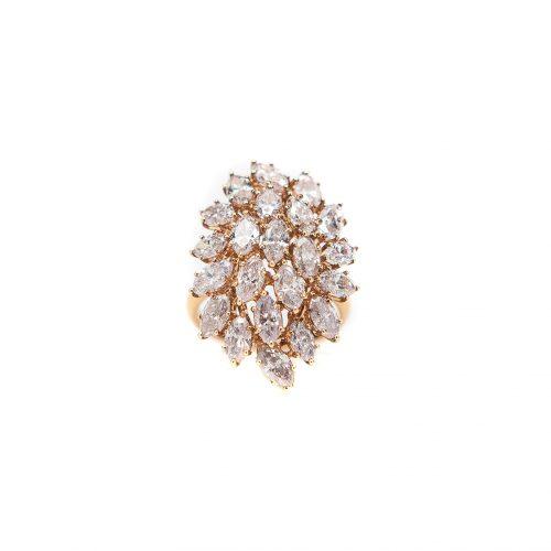 , Princess + Round Diamond Stacker