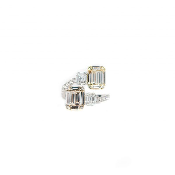 , Diamond Fashion Ring 18KT White and Yellow Gold