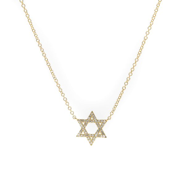 , Star of David 14KYG Necklace