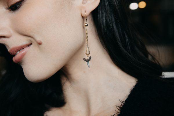 , Dangle Shark Teeth Earrings