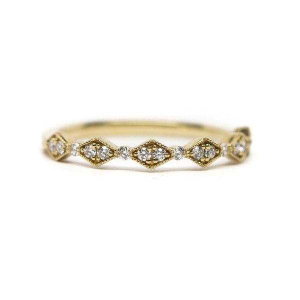 , Diamond Band by Kashi 14 KT Gold