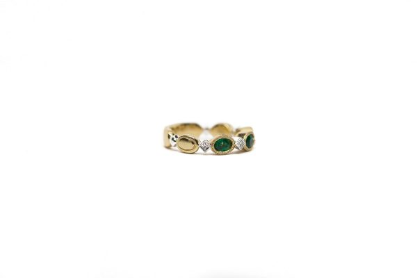 , Emerald and Diamond Kashi Ring