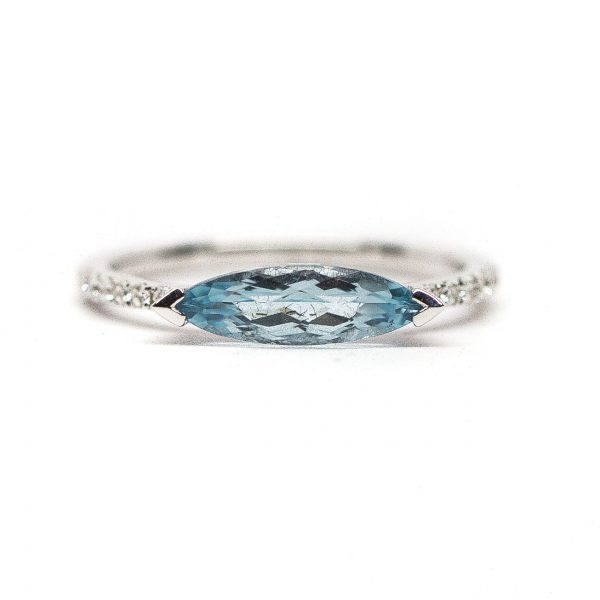 , Doves Blue Topaz Ring