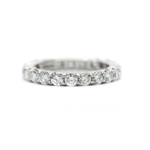 , 1.50 CT Diamond Eternity Band set in Platinum