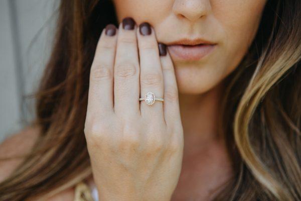 , 0.83 CT Oval Cut Diamond Ring