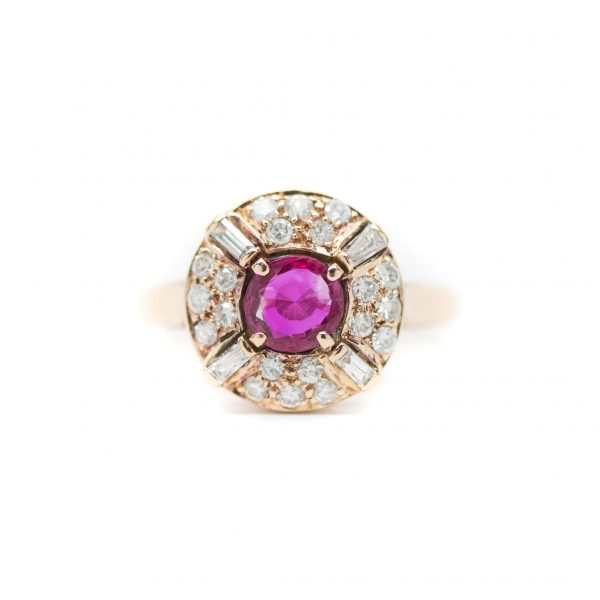, Ruby + Diamond Ring