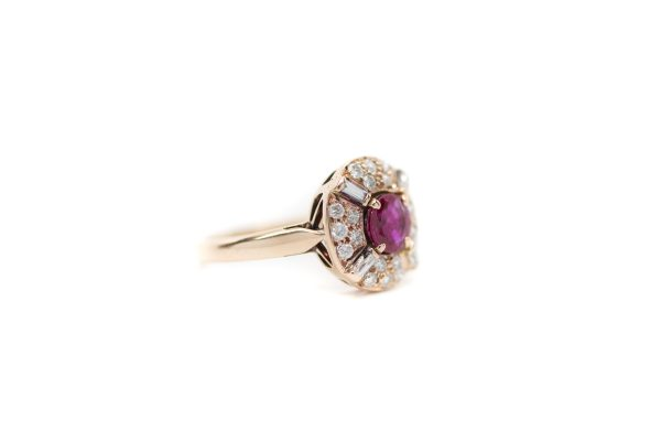 , Ruby + Diamond Ring