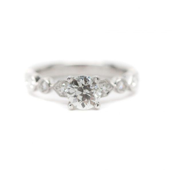 , 0.825 Euro Cut Engagement Ring