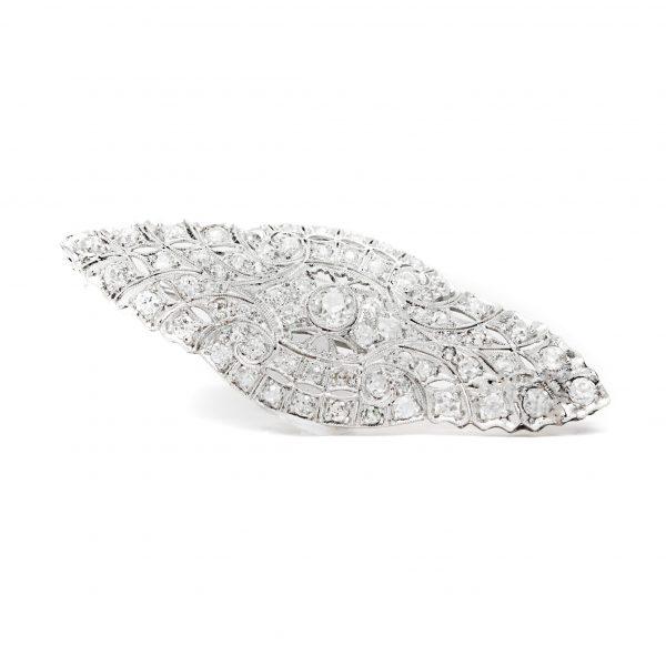 , Art Deco Diamond Brooch