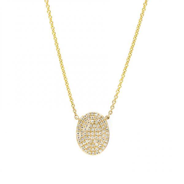 , Diamond Oval Necklace