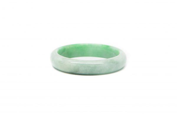 , Green White Jade Bracelet