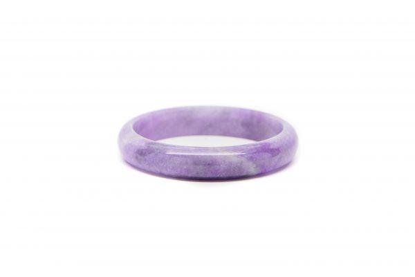 , Purple White Jade Bracelet