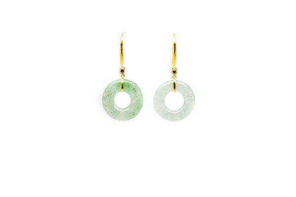, Green Jade Drop Earrings