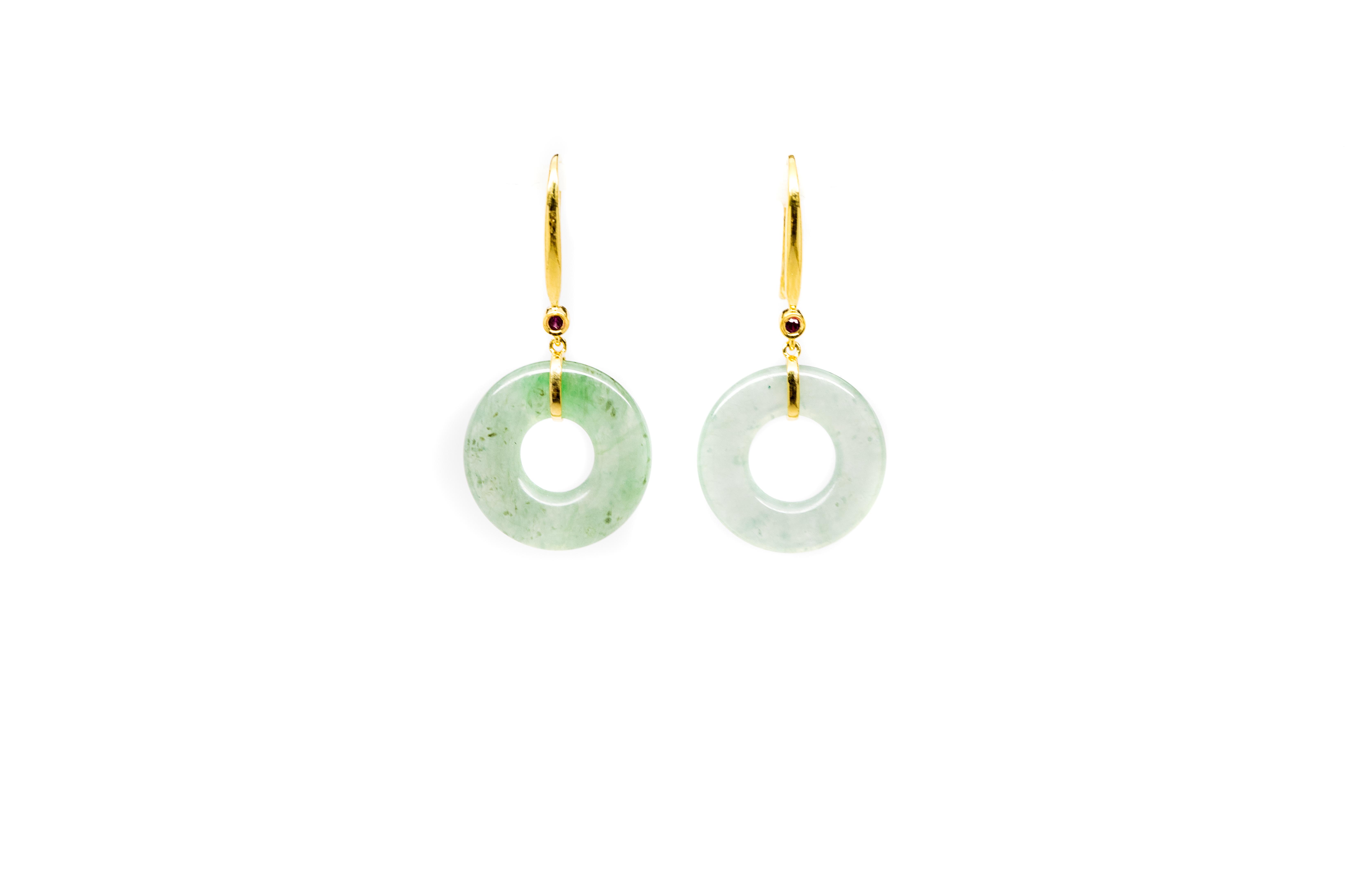 Miriams Jewelry Green Jade Drop