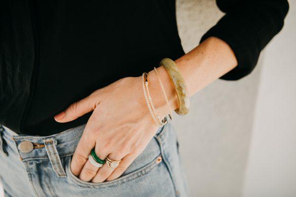 , Yellow Jadeite Bracelet