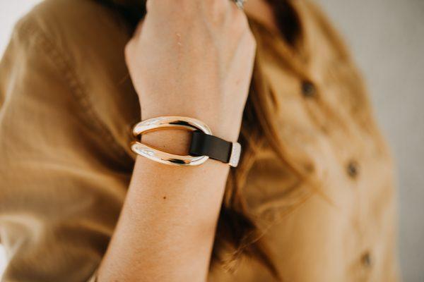, Diamond Leather Bracelet