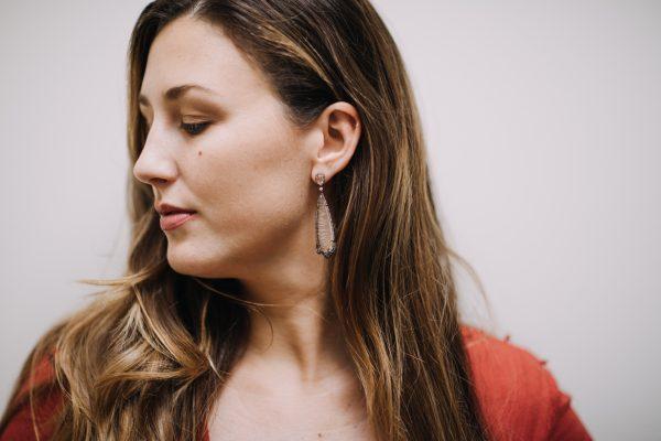 , Doves Rutilated Quartz Earrings