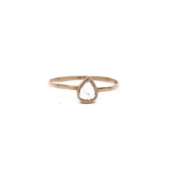 , Pear Diamond Ring