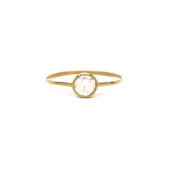 , 0.30 CT Round Cut Diamond Ring