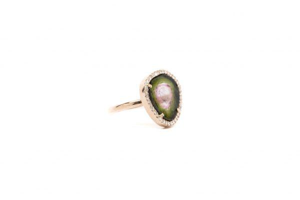 , Watermelon Tourmaline Ring