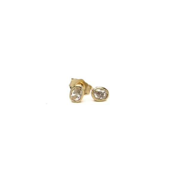 , Rose Cut Oval Studs