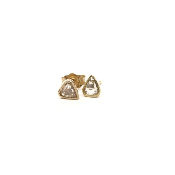 , Yellow Gold Trill Studs