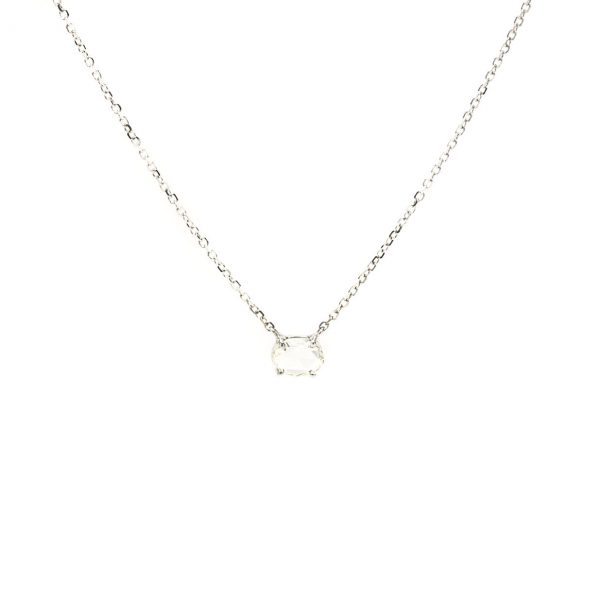 , Rose Cut Oval Diamond Necklace