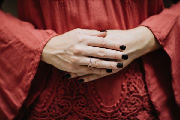 , Doves Diamond Rose Gold Band